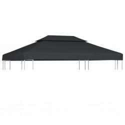 vidaXL Set de comedor de jardín 9 piezas vidrio y acero negro