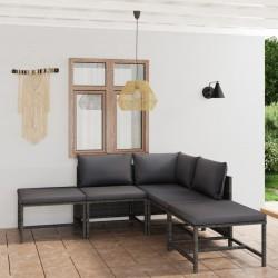 vidaXL Mesita de noche de madera maciza reciclada 50x40x40 cm