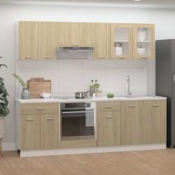vidaXL Cajas de almacenamiento con tapas 10 uds 28x28x28 cm negro