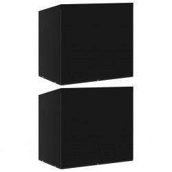 vidaXL Cajas de almacenamiento con tapa 4 uds 28x28x28 cm rojo oscuro