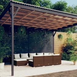 vidaXL Caja de almacenaje 10 uds tela no tejida 28x28x28cm rojo oscuro