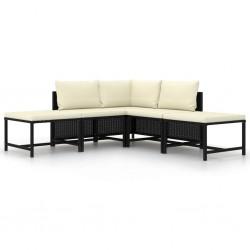 vidaXL Cajas de almacenamiento con tapas 10 uds 28x28x28 cm crema