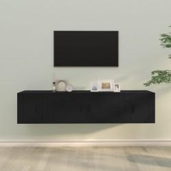 vidaXL Cajas de almacenamiento con tapa 4 uds 28x28x28cm rojo