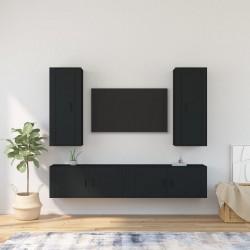 vidaXL Cajas de almacenamiento con tapas 4 uds 28x28x28 cm azul bebé