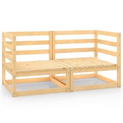 vidaXL Lámpara de pie 3 uds madera maciza de mango plateada E27