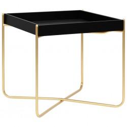vidaXL Banco de acero inoxidable y terciopelo verde oscuro 99 cm