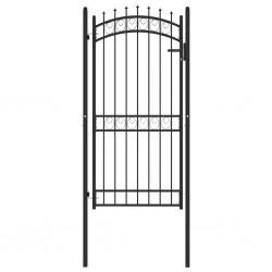 vidaXL Puerta de jardín de acero galvanizado plateado 415x250 cm