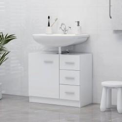 vidaXL Armario de cocina de aglomerado negro 60x46x81,5 cm
