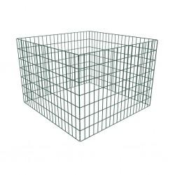 vidaXL Puerta de jardín de acero verde 125x350 cm