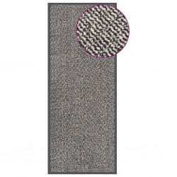 vidaXL Puerta de jardín de acero plateado 400x175 cm