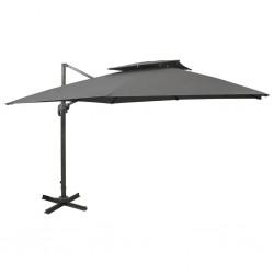 vidaXL Lámpara de techo industrial madera de mango latón E27