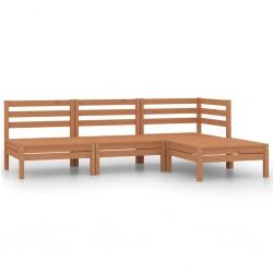 vidaXL Puerta de jardín de acero verde 400x75 cm