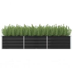 vidaXL Cubierta de piscina PE plateado 450x220 cm