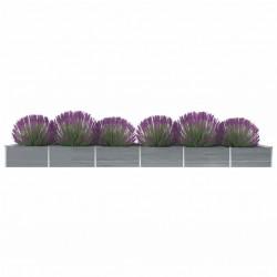 vidaXL Cubierta de piscina PE plateado 549x274 cm