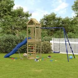 vidaXL Parque de perros plegable y bolsa transporte azul 110x110x58cm