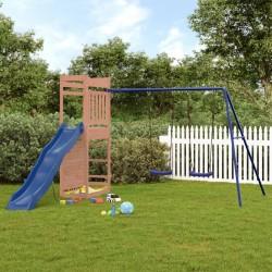 vidaXL Parque de perros plegable y bolsa transporte azul 145x145x61cm
