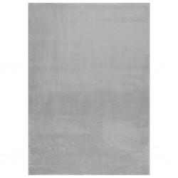 vidaXL Set de muebles de jardín 4 piezas bambú y cojines gris oscuro