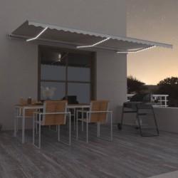 vidaXL Toldo de vela beige HDPE 160 g/m² 2x2,5 m