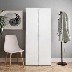 vidaXL Juego de tabla de paddle surf hinchable blanco y negro