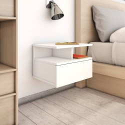 vidaXL Espejo de baño aglomerado gris hormigón 80x1,5x37 cm