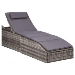 vidaXL Espejo de baño aglomerado gris hormigón 100x1,5x37 cm