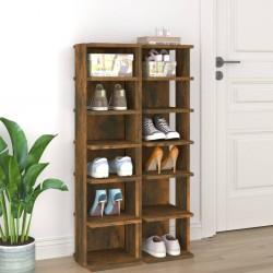 vidaXL Mesitas de noche 2 uds madera de pino marrón oscuro 35x30x47 cm