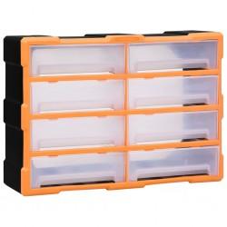 vidaXL Caja de aluminio 1085x370x400 mm negra