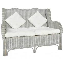 vidaXL funda elástica de tela jersey de poliéster gris para sofá