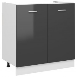 vidaXL Armario para lavabo aglomerado gris 100x38,5x45 cm