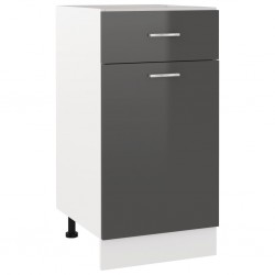 vidaXL Espejo de baño aglomerado gris 60x10,5x45 cm