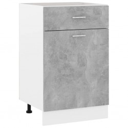 vidaXL Espejo de baño aglomerado gris brillante 60x10,5x45 cm