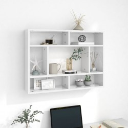 vidaXL Estantería de 6 niveles madera maciza de roble 80x30x205 cm