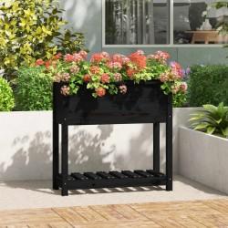 vidaXL Estantería de 3 niveles madera maciza de roble 80x30x87 cm