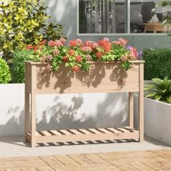 vidaXL Estantería de 4 niveles madera maciza de roble 80x30x125 cm