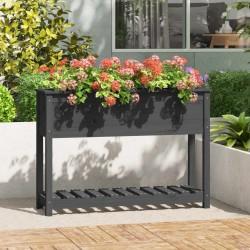 vidaXL Estantería de 5 niveles madera maciza de roble 80x30x163,5 cm