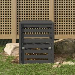 vidaXL Toldo para balcón tela oxford verde oscuro 75x600 cm