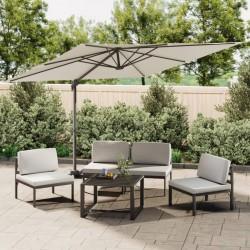 vidaXL Toldo para balcón tela oxford marrón 90x600 cm