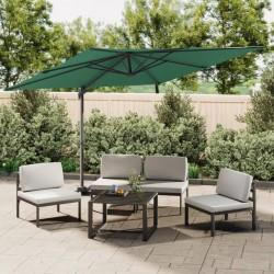 vidaXL Toldo para balcón tela oxford marrón 120x300 cm