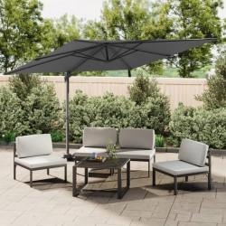 vidaXL Toldo para balcón tela oxford marrón 120x500 cm