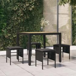 vidaXL Juego de comedor para jardín 3 piezas madera maciza de acacia