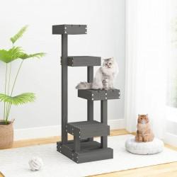 vidaXL Mesa y sillas de bar de jardín 5 pzas gris madera de acacia