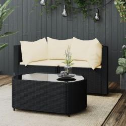 vidaXL Espejo de baño aglomerado negro 60x10,5x37 cm
