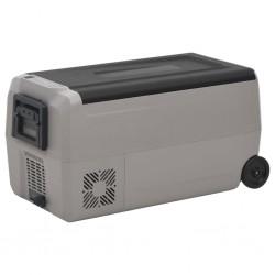 vidaXL Espejo de baño aglomerado gris 60x10,5x37 cm