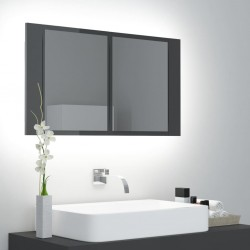 vidaXL Espejo de baño aglomerado blanco 100x10,5x37 cm