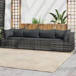 vidaXL Espejo de baño aglomerado gris brillante 100x10,5x37 cm