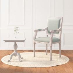 vidaXL Juego de muebles de cocina 7 piezas aglomerado blanco brillo