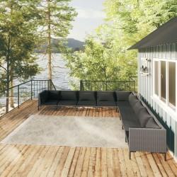vidaXL Puerta de valla de acero verde 100x204 cm