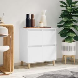 vidaXL Estantería de 5 niveles madera maciza de roble 40x30x163,5 cm