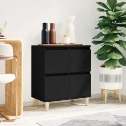 vidaXL Estantería de 6 niveles madera maciza de roble 40x30x205 cm