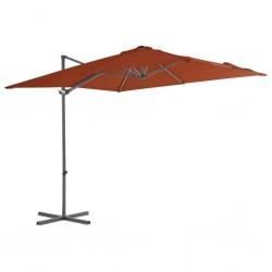 vidaXL Anclajes de valla 2 uds acero galvanizado plateado 8x6x60 cm
